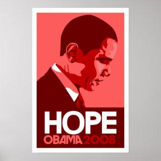 Obama Hope Poster - Dark Red