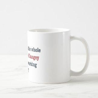 Obama  Hopey Changey Basic White Mug