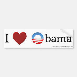 "Obama ""I Love Obama"" Bumper Sticker"