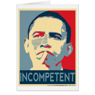 Obama - If at first you don't succeed... Card