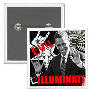 Obama - Illuminati 15 Cm Square Badge