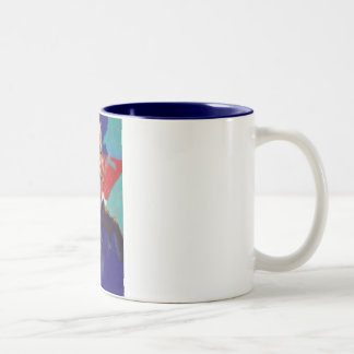 Obama Impressionist Two-Tone Mug