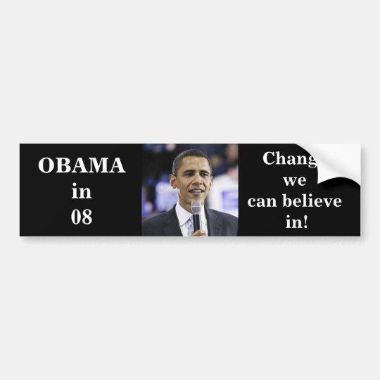 OBAMA in 08 Bumper Sticker