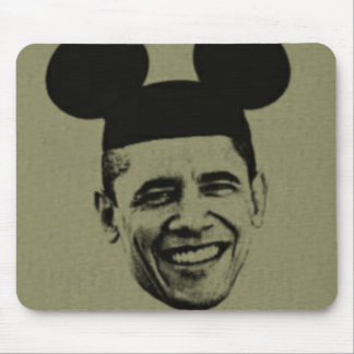 Obama In Mouse Ears Mouse Pad