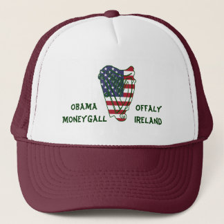 Obama In Offaly US Flag On Irish Harp Hat