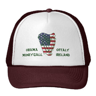 Obama In Offaly US Flag On Irish Harp Hat