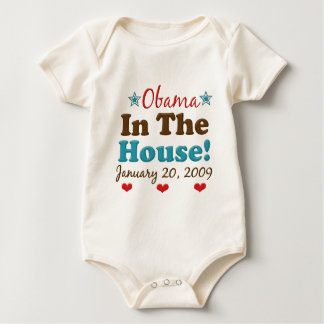 Obama In The House Baby Bodysuit