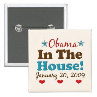 Obama In The House Square Button
