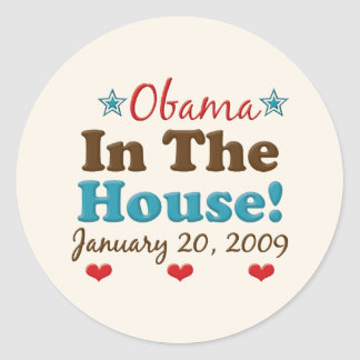 Obama In The House Sticker