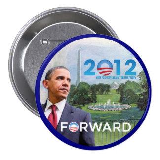 Obama in Washington 2012 7.5 Cm Round Badge