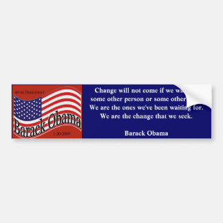 Obama Inauguration 2009 Bumper Sticker