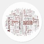 Obama Inauguration Address Round Stickers
