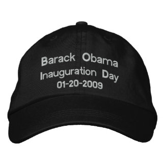 Obama Inauguration Day Commemorative Collectors Embroidered Hat