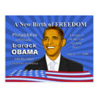 Obama Inauguration Events Philadelphia PA Postcard