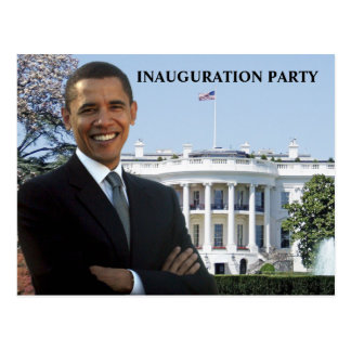 Obama Inauguration Party Invitation Postcard