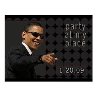Obama Inauguration Party Invite Postcard