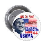 Obama Inauguration Pinback Buttons