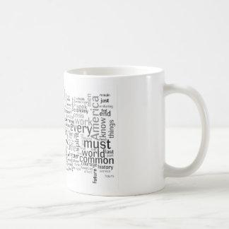 Obama Inauguration Speech Tagcloud Basic White Mug