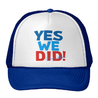 Obama Inauguration 'Yes We Did' Trucker Hat