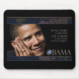 Obama Inspirational Quote Mouse Mat