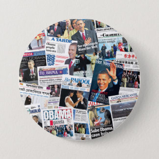 Obama International Inauguration Newspaper Button