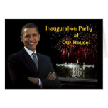 Obama Invitation Inauguration Party Our House Note Card