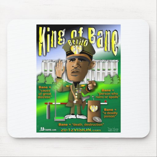 Obama is King of Bane Mousepads