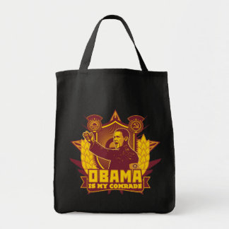 Obama Is My Comrade Tote Grocery Tote Bag