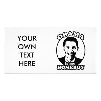 Obama is my homeboy custom photo card