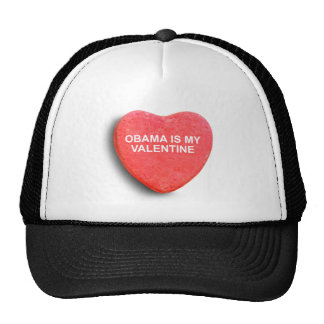 OBAMA IS MY VALENTINE MESH HAT