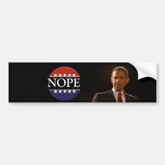 Obama is not hope bumper sticker