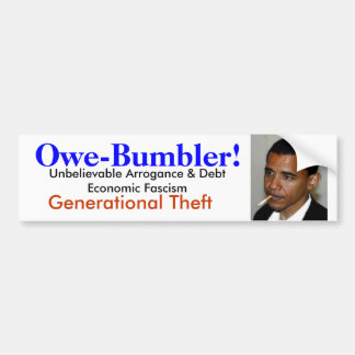 Obama is Owe-Bumbler: Generational Thief Car Bumper Sticker