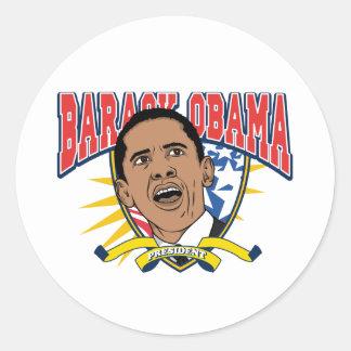 Obama Is President Round Sticker