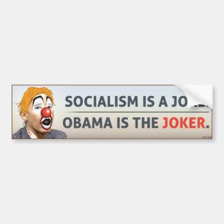 Obama Is The Joker Bumper Sticker