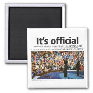 Obama It s Official Fridge Magnets