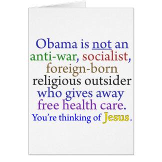 Obama & Jesus Card