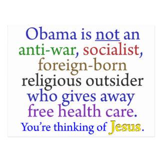Obama & Jesus Postcards