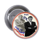 Obama/JFK Button