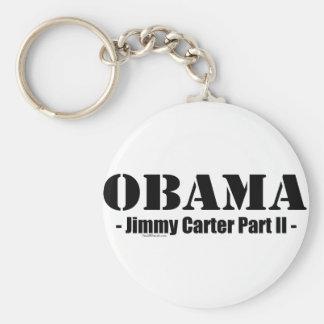 Obama - Jimmy Carter Part II Basic Round Button Key Ring