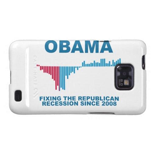 Obama Job Growth Graph Samsung Galaxy S Case