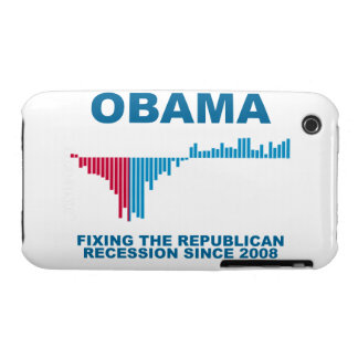 Obama Job Growth Graph Case-Mate iPhone 3 Case