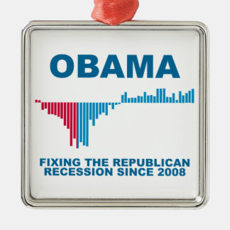 Obama Job Growth Graph Christmas Ornament