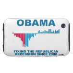 Obama Job Growth Graph iPhone 3 Tough Case