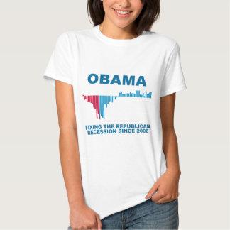 Obama Job Growth Graph T Shirts