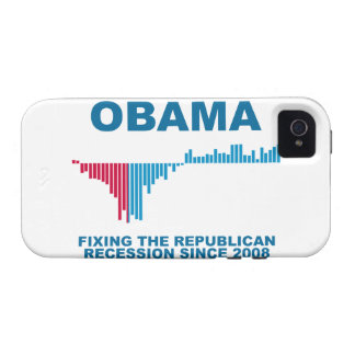 Obama Job Growth Graph Vibe iPhone 4 Covers