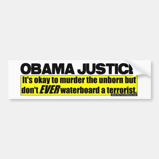 Obama Justice Bumper Sticker