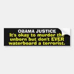 Obama Justice Bumper Sticker Car Bumper Sticker
