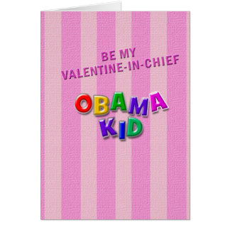 Obama kid Valentine Greeting Card