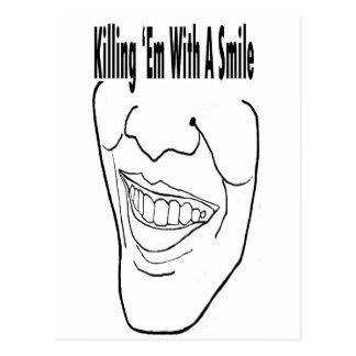 Obama Killing Em Smile Postcard