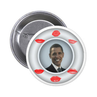 Obama Kisses 6 Cm Round Badge